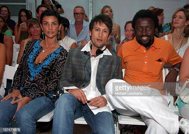 Ingrid Casares Shiro Gutzie and Tony Okungbowa front row at Shay Todd