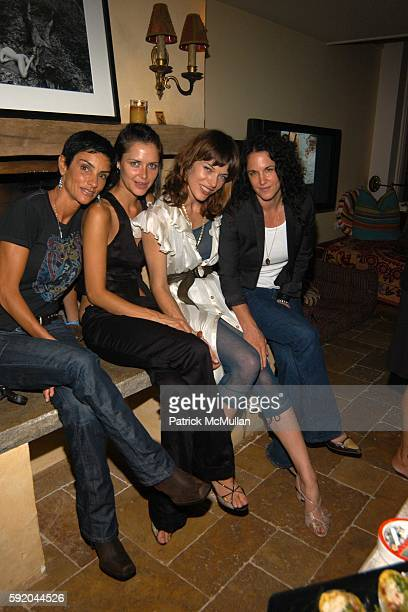 Ingrid Casares Tasha Tilberg Milla Jovovich and Amanda Demme attend Milla by Milla Jovovich Party at Milla Jovovich Home on September 13 2005 in New...