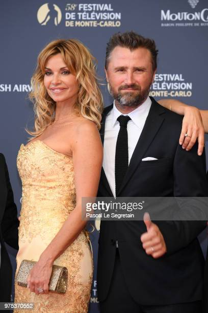 Ingrid Chauvin and Alexandre Brasseur attend the opening ceremony of the 58th Monte Carlo TV Festival on June 15 2018 in MonteCarlo Monaco