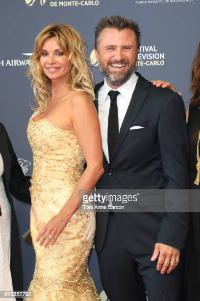 Ingrid Chauvin and Alexandre Brasseur the opening ceremony of the 58th Monte Carlo TV Festival on June 15 2018 in MonteCarlo Monaco
