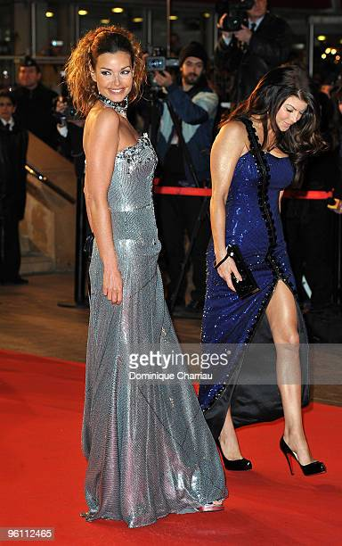Ingrid Chauvin and Fergie attend the NRJ Music Awards 2010 at Palais des Festivals on January 23 2010 in Cannes France