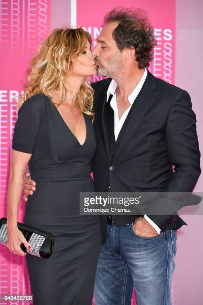 Ingrid Chauvin and Thierry Peythieu attend Killing Eve and When Heroes Fly screening during the 1st Cannes International Series Festival at Palais...