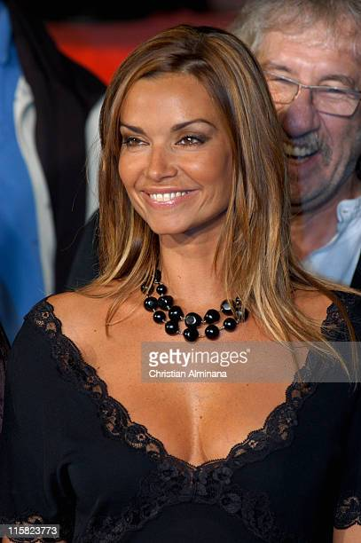 Ingrid Chauvin during 7th SaintTropez TV Movie Festival Closing Cermony Arrivals at Espace des Lices in St Tropez France