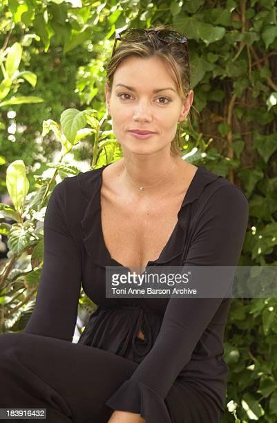 Ingrid Chauvin during Saint-Tropez Fiction Television Festival 2001 - Ingrid Chauvin & Laurent Hennequin Portraits at Place des Lices in...