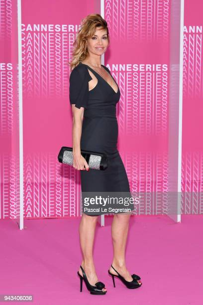 Ingrid Chauvin from the serie Demain nous appartient attends Killing Eve and When Heroes Fly screening during the 1st Cannes International Series...