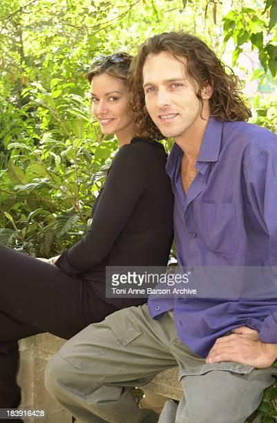 Ingrid Chauvin & Laurent Hennequin during Saint-Tropez Fiction Television Festival 2001 - Ingrid Chauvin & Laurent Hennequin Portraits at Place des...
