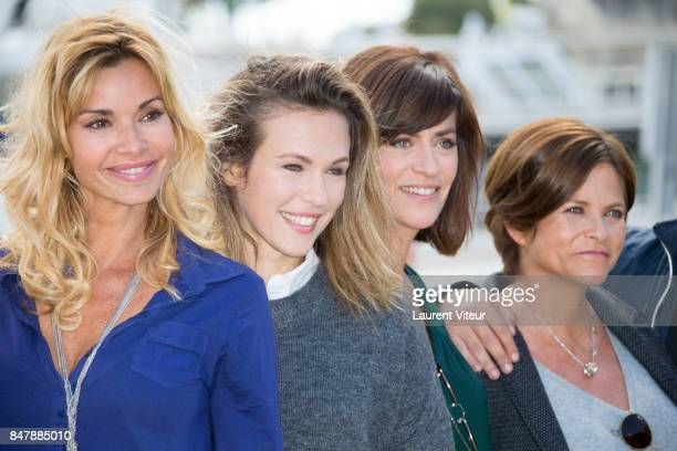 Ingrid Chauvin Lorie Pester Anne Caillon and Charlotte Valandrey attend 'Demain Nous Appartient Photocall during the 19th Festival of TV Fiction at...