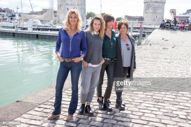 Ingrid Chauvin Lorie Pester Anne Caillon and Charlotte Valandrey attend 'Demain Nous Appartient' Photocall during the 19th Festival of TV Fiction at...
