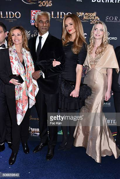 Ingrid Chauvin Satya Oblette Adriana Karembeu and Sarah Marshall attend the 'Top Model Belgium 2016' Ceremony at Le Lido on January 24 2016 in Paris...