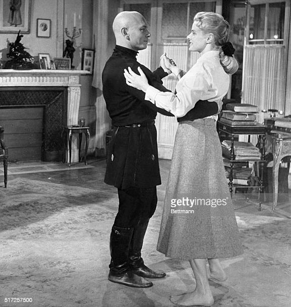 Ingrid Cuts a Rug in Bare Feet London England Actress Ingrid Bergman wife of famed Italian director Roberto Rossellini is shown dancing barefoot with...