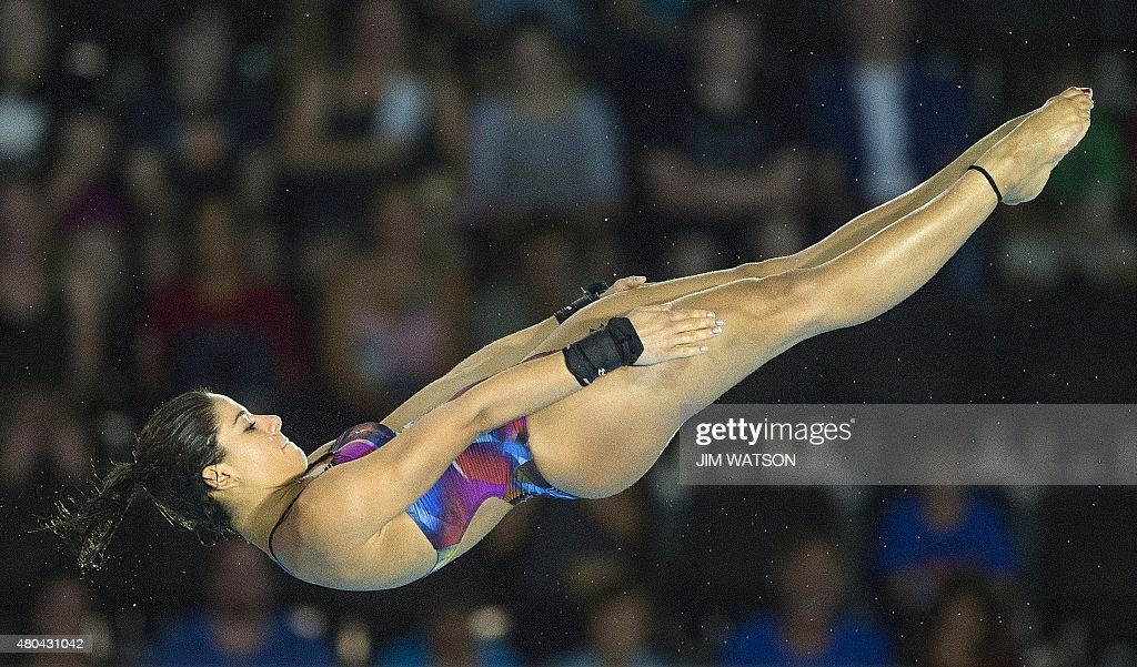 PANAM2015-CANADA-WOMENS-10M-FINALS : News Photo