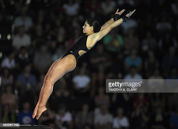 Ingrid De Oliveira of Brazil dives during the Women's 10m Platform SemiFinals at the Toronto 2015 Pan American Games in Toronto on July 10 2015 AFP...