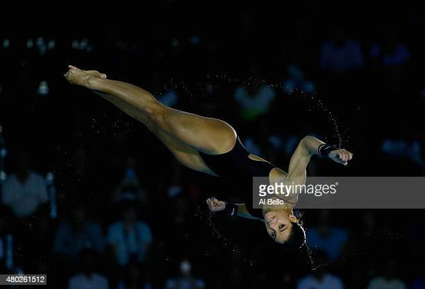 Ingrid De Oliveira of Brazil dives during the Women's 10m Platform Semi Finals on July 10 2015 in Toronto Canada