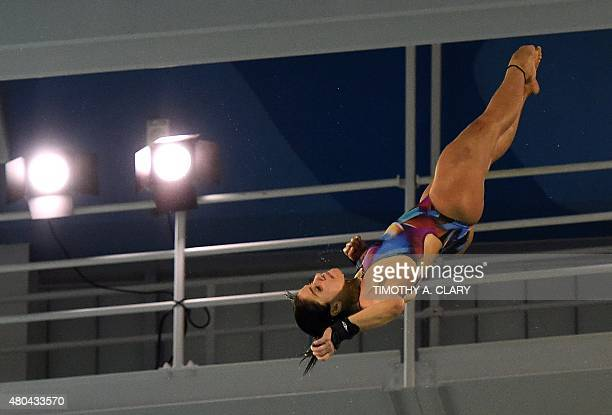 Ingrid De Oliveira of Brazil dives in the Women's 10m Platform Final at the 2015 Pan American Games in Toronto Canada on July 11 2015 Paola Espinosa...