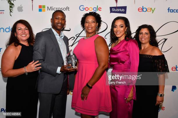 Ingrid Duran Chief of Staff to Rep GK Butterfield and Troy Clair Nicole Wade Angela Rye and Catherine Pino appear at IMPACT Strategies and DP...