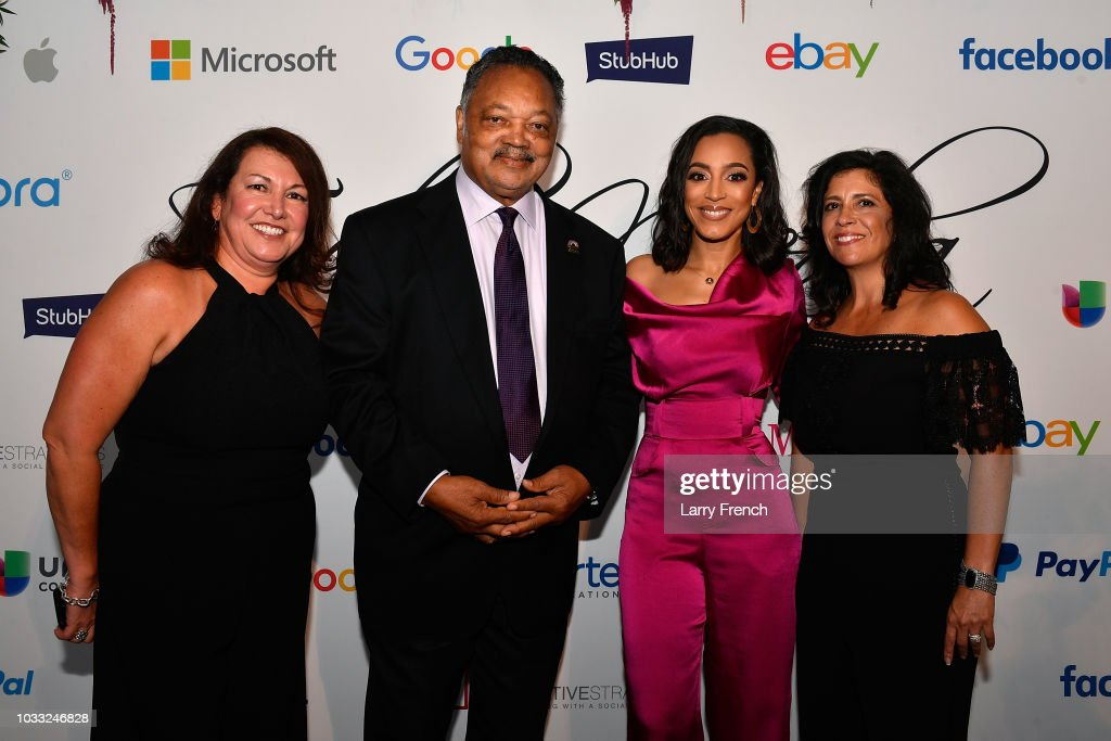 Ingrid Dyran, Reverend Jesse Jackson, Angela Rye and Catherine Pino appear at IMPACT Strategies and D&P Creative Strategies Tech & Media day party and brunch at Longview Gallery on September 14, 2018 in Washington, DC.