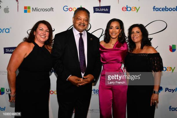 Ingrid Dyran Reverend Jesse Jackson Angela Rye and Catherine Pino appear at IMPACT Strategies and DP Creative Strategies Tech Media day party and...