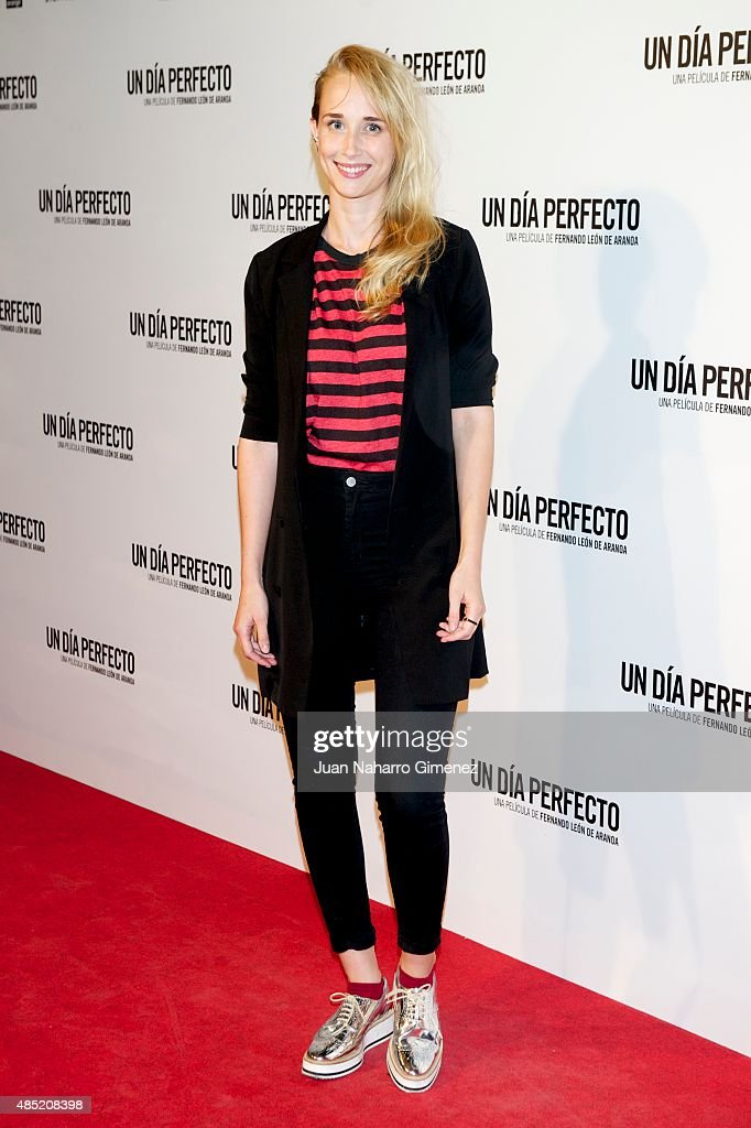 Ingrid Garcia Jonsson attends 'Un Dia Perfecto' premiere at Palafox Cinema on August 25, 2015 in Madrid, Spain.
