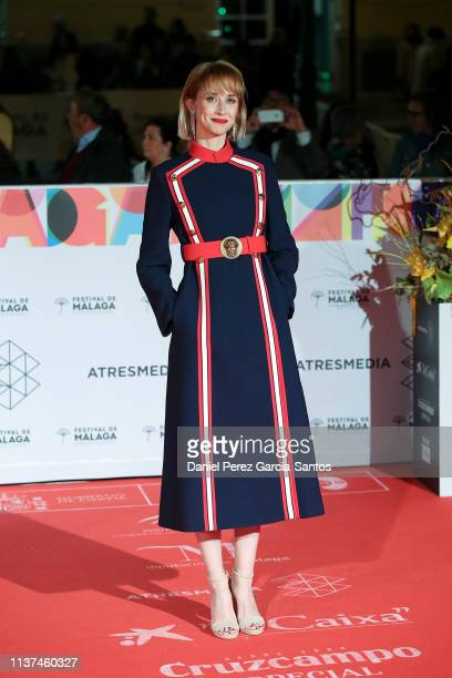 Ingrid GarciaJonsson attends '¿Que Te Juegas' premiere at the Cervantes Theater during the 22nd Malaga Film Festival on March 21 2019 in Malaga Spain