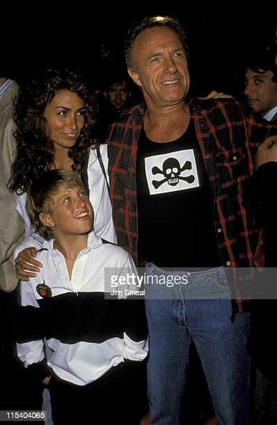 Ingrid Hayjek Scott Caan and James Caan during Gregg Gorman's Birthday Party June 29 1989 at Tramp's in Beverly Hills California United States