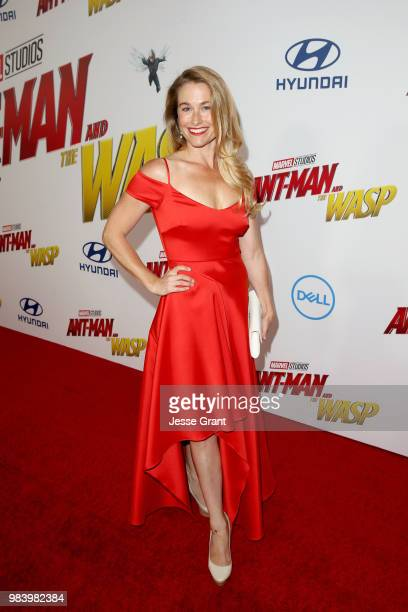 Ingrid Kleinig attends the Los Angeles Global Premiere for Marvel Studios' 'AntMan And The Wasp' at the El Capitan Theatre on June 25 2018 in...