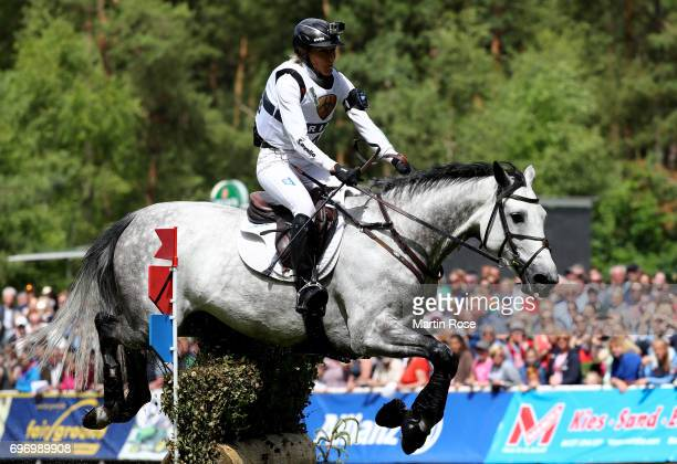 Ingrid Klimke of Germany rides Weisse Duene during the CIC 3 star cross country at the Messmer Trophy on June 17 2017 in Luhmuhlen Germany