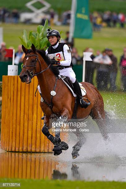 Ingrid Klimke of Germany riding Horseware Hale Bob OLD to third place in the DHLPrize Eventing CICO3 Nation Cup Cross Country event on July 16 2016...