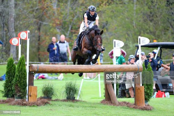 Ingrid Klimke of Germany riding Sap Hale Bob OLD in cross country eventing during the FEI World Equestrian Games 2018 on September 15 2018 in Tryon...