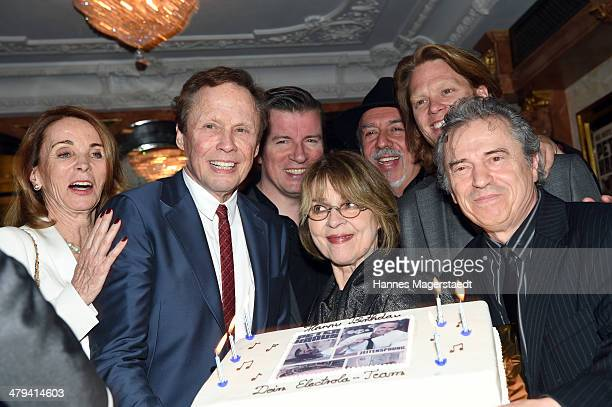 Ingrid Kraus Peter Kraus Cornelia Froboess and Guenther Sigl attend the Peter Kraus 75th Birthday party at Suedtiroler Stuben on March 18 2014 in...