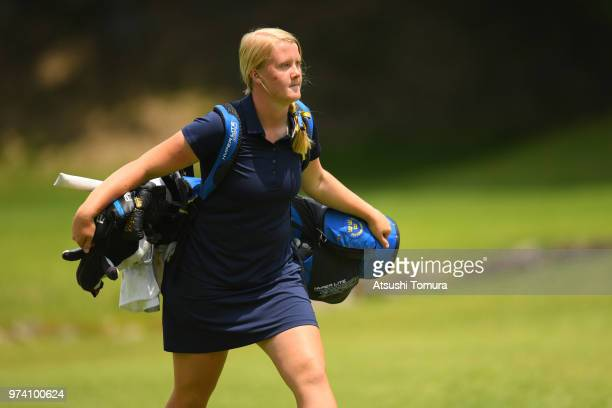 Ingrid Lindblad of Sweden looks on during the third round of the Toyota Junior Golf World Cup at Chukyo Golf Club on June 14 2018 in Toyota Aichi...