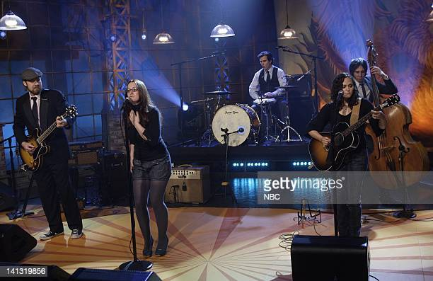 LENO Ingrid Michaelson Air Date Episode 3536 Pictured Musical guest Ingrid Michaelson performs on April 15 2008 Photo by Paul Drinkwater/NBCU Photo...