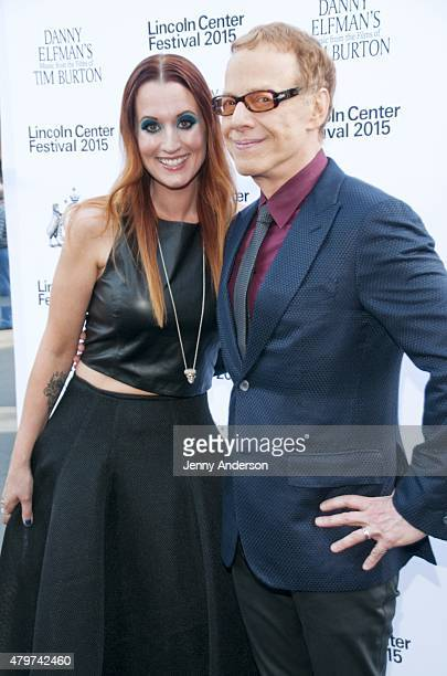 "Ingrid Michaelson and Danny Elfman attend Lincoln Center Festival's opening night performance of ""Danny Elfman's Music From the Films of Tim Burton""..."