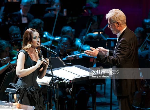 "Ingrid Michaelson performs during Lincoln Center Festival's opening night performance of ""Danny Elfman's Music From the Films of Tim Burton"" on July..."