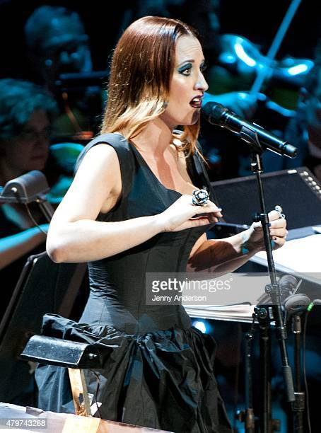 """Ingrid Michaelson performs during Lincoln Center Festival's opening night performance of """"Danny Elfman's Music From the Films of Tim Burton"""" on July..."""