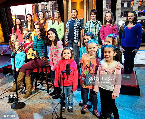 Ingrid Michaelson performs on ABC's Good Morning America with 20 students from the Sandy Hook Elementary School from Newtown CT at ABC Studios on...