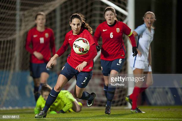 Ingrid Moe Wold during the preseason friendly match between national women's Engalnd vs Norway in Pinatar Arena San Pedro del Pinatar Murcia SPAIN...