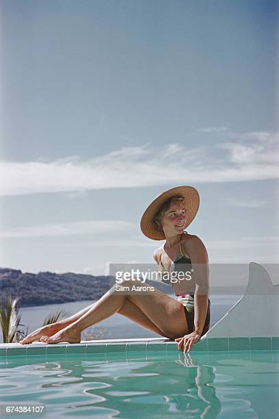 Ingrid Morath sunbathes by a swimming pool next to the sea in Acapulco January 1961 Ingrid was born in Rio de Janeiro and lives in Mexico City