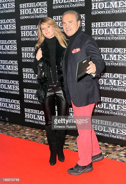 Ingrid Muccitelli and Mauro Masi attend the ' Sherlock Holmes Games Of Shadows' premiere at Warner Moderno on December 11 2011 in Rome Italy