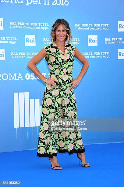 Ingrid Muccitelli at the Rai Show Schedule on July 5 2016 in Rome Italy