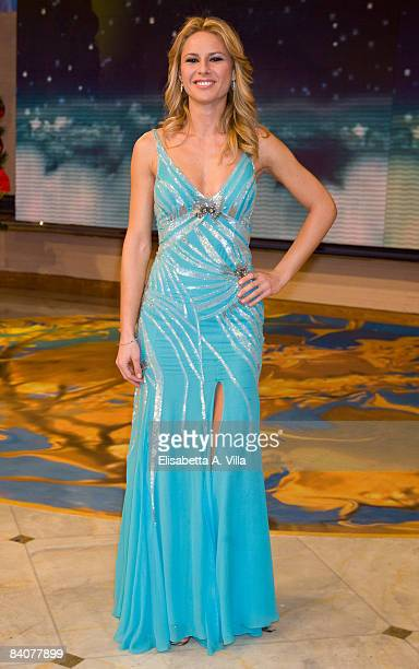 Ingrid Muccitelli attends the Italian TV program 2009 Horoscope by Paolo Fox on December 17 2008 in Rome Italy
