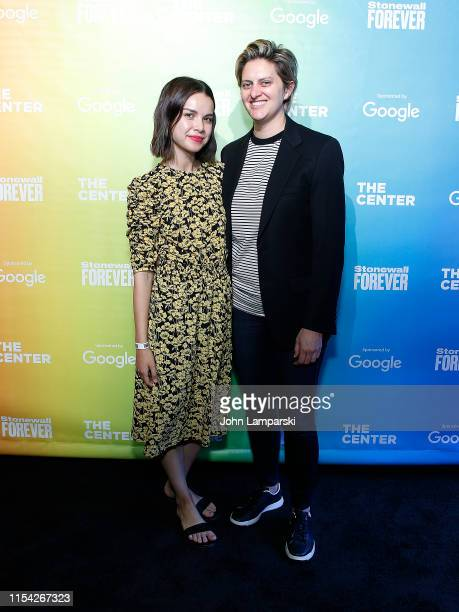 Ingrid Nelson and Erica Anderson attend #StonewallForever Launch event at West Edge on June 06 2019 in New York City