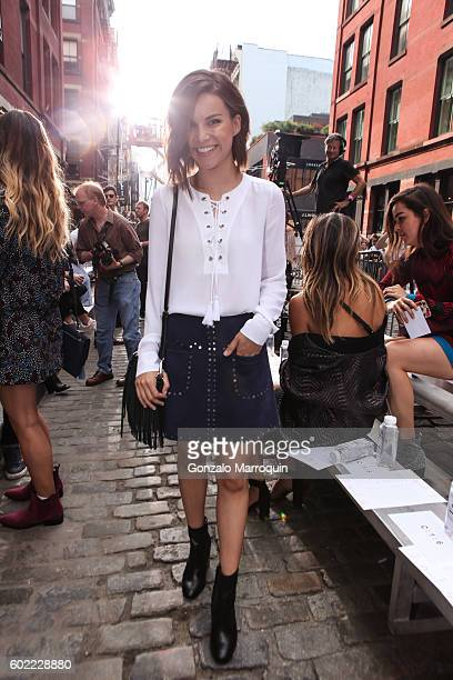 Ingrid Nelson at the Rebecca Minkoff Front Row September 2016 New York Fashion Week The Shows at Rebecca Minkoff on September 10 2016 in New York City