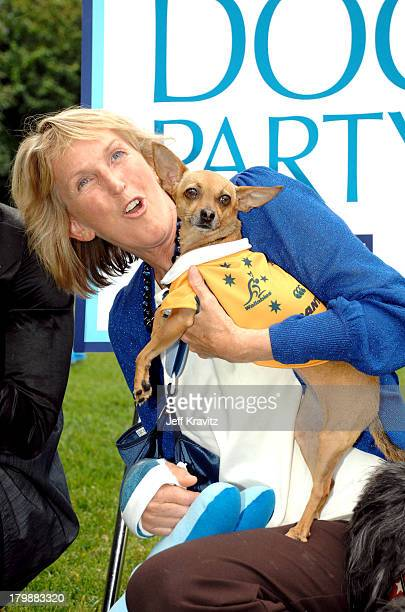 *EXCLUSIVE* Ingrid Newkirk at the launch of PETA President Ingrid Newkirk's new book Let's Have a Dog Party with a bash at her Los Angeles home on...