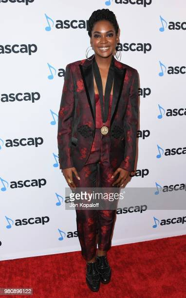 Ingrid Nicole Burley attends the 2018 ASCAP Rhythm & Soul Music Awards at the Beverly Wilshire Four Seasons Hotel on June 21, 2018 in Beverly Hills,...