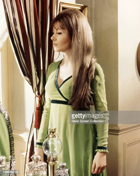 Ingrid Pitt Polish actress wearing a light green dress with dark green trim in an image issued as publicity for the film 'The Vampire Lovers' Great...
