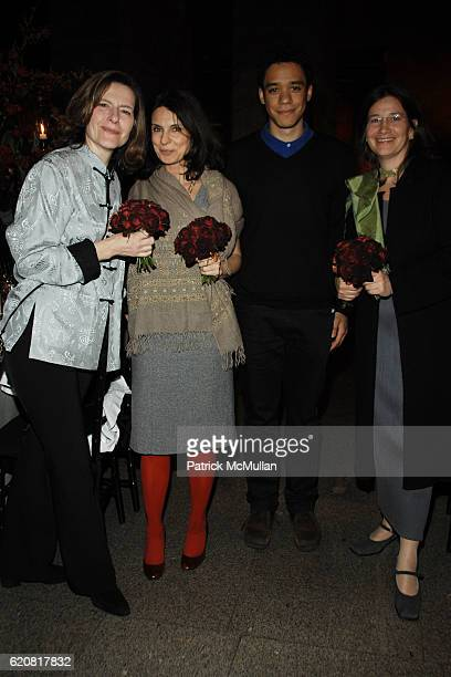 Ingrid Rossellini Giovanna Caldino Elliott Aguilar and Flavia de Stefanis attend The Return of FMR Magazine at Metropolitan Museum on March 13 2008...