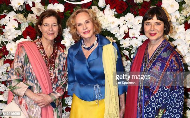 Ingrid Rossellini Pia Lindstrom and Isabella Rossellini attend The American Theatre Wing's Centennial Gala at Cipriani 42nd Street on September 18...