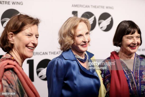 Ingrid Rossellini Pia Lindstrom and Isabella Rossellini attend the American Theatre Wing Centennial Gala at Cipriani 42nd Street on September 18 2017