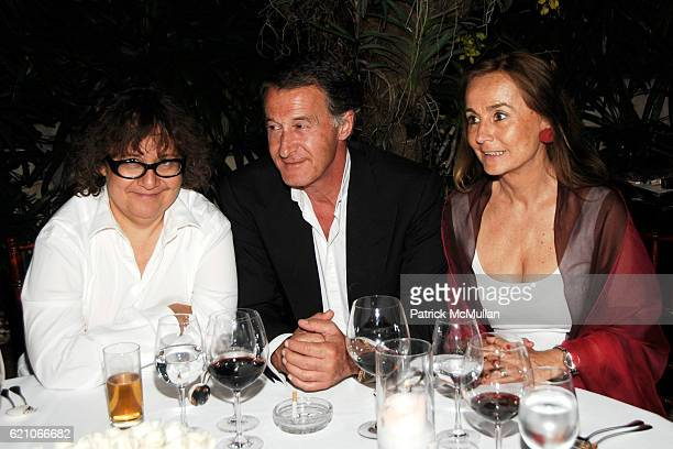 Ingrid Sischy Eric Pfrunder and Brita von Maydell attend CHANEL Private Dinner for KARL LAGERFELD at Casa Tua on May 14 2008 in Miami Beach FL
