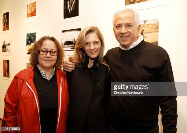 Ingrid Sischy Sandy Brant and Paul Marciano during GUESS and W Magazine Party for Behind the Lens The Next GUESS Fashion Photographer at Spike...